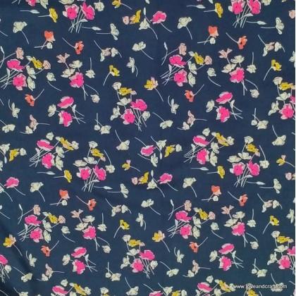 *903684* Denim Spandex Knit:Tiny Flower (160cm)