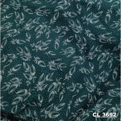 *903692* Lycra Knit: Leaves With Dot
