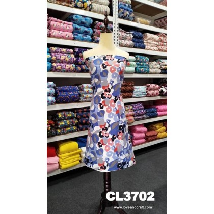 *903702* Lycra Knit: Blue Flower Abstract