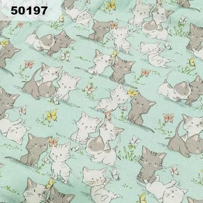 Cotton: Kittie On Mint (50197)