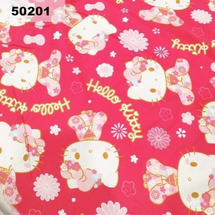 Cotton: Hello Kitty On Hot Pink (50201)