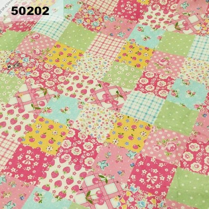 Cotton: Pink Patches (50202)