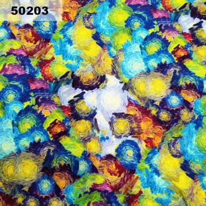 Cotton: Colourful Abstract (50203)
