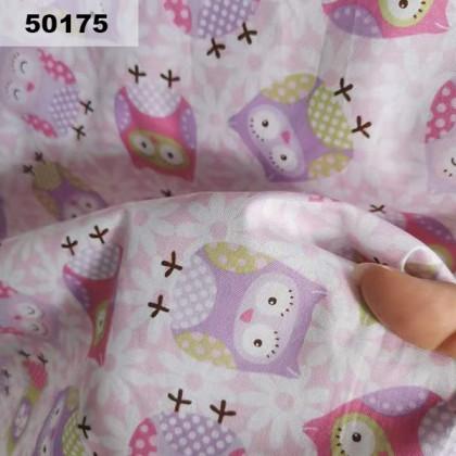 Cotton: Pink Purple Owl (50175)