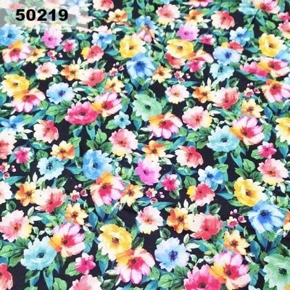Cotton: Colourful Flower (50219)