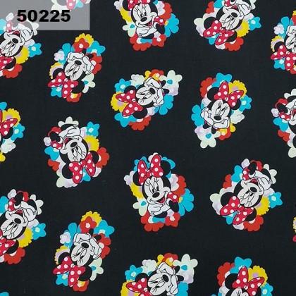 Cotton: Cute Minnie On Black (50225)