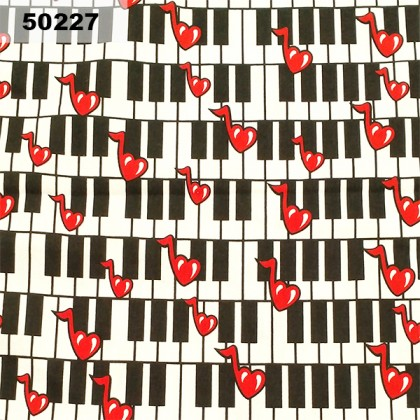 Cotton: Piano With Music Chord (50227)