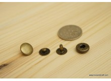 *B00187* Snap button: Bronze color (1.2cm and 1.5cm)