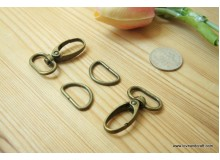 T220(10/3)-* Snap lobster hook and D ring set 2.0cm